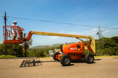 Mobile Crane Hoist Operator Royalty Free Stock Image
