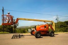 Mobile Crane Hoist Operator Royalty Free Stock Image