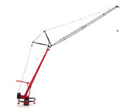 Mobile crane isolated over white background Royalty Free Stock Image