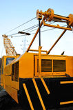 Mobile crane details Royalty Free Stock Photos
