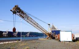 Mobile Crane Standing on Construction Site Stock Photos