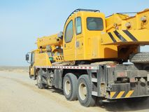 Truck crane. Royalty Free Stock Images