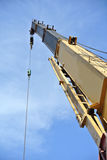 Mobile crane used to lifting heavy material at construction site Stock Images