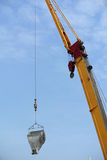Mobile crane used to lifting heavy material at construction site Royalty Free Stock Photography