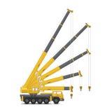 Mobile crane vector Royalty Free Stock Photo