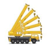 Mobile crane vector Stock Photo