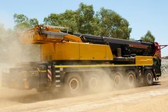 Mobile Crane Vehicle. In the Outback Stock Photos