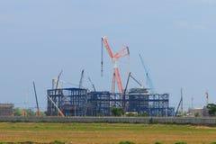 Mobile cranes Stock Photo