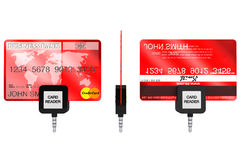 Mobile Credit Card reader Royalty Free Stock Photography