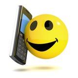 mobile 3d souriant Images libres de droits