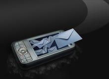 Mobile, das Meldungen sendet Lizenzfreie Stockfotos