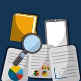 Mobile data search innovation document file folder. Vector illustration Royalty Free Stock Image