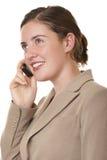 Mobile de femme d'affaires image libre de droits