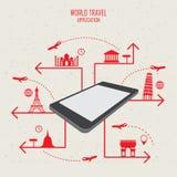 Mobile de voyage du monde Image libre de droits