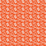 Mobile Developer seamless texture on an orange background Royalty Free Stock Photo
