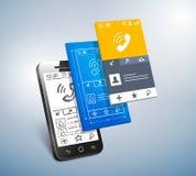 Mobile development Stock Image