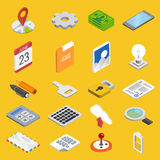 Mobile development icons set Stock Image
