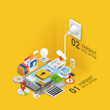 Mobile development icons set. Royalty Free Stock Image