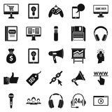 Mobile development icons set, simple style. Mobile development icons set. Simple set of 25 mobile development vector icons for web isolated on white background Stock Photography