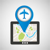 Mobile device airport gps map Royalty Free Stock Photography