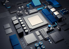 Mobile Device CPU Background Stock Image
