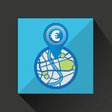 Mobile device europe gps map Stock Image