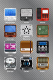 Mobile device icons Royalty Free Stock Image
