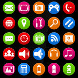 Mobile device icons Royalty Free Stock Images