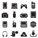 Mobile Device icons Set Vector illustration Royalty Free Stock Image