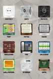 Mobile device icons v2.0 part 5 Stock Image