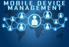 Mobile Device Management Royalty Free Stock Photo