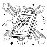 Mobile device sketch Stock Photography