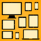 Mobile Device Symbols. Mobile device symbol collection vector illustration