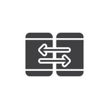 Mobile device synchronization icon vector Royalty Free Stock Image