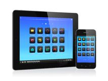 Mobile devices Royalty Free Stock Photos