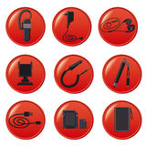 Mobile devices accessories Stock Images