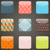 Mobile devices apps icons background set Royalty Free Stock Photos