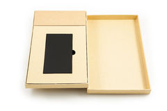 Mobile devices. Box squares. Black box squares. Small device electricity to recharge of smart phone Royalty Free Stock Image