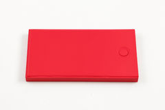 Mobile devices. Box squares. Red box squares. Small device electricity to recharge of smart phone Stock Images