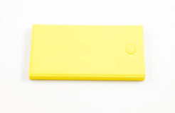 Mobile devices. Box squares. Yellow box squares. Small device electricity to recharge of smart phone Royalty Free Stock Image