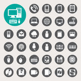 Mobile devices , computer and network connections  Stock Images