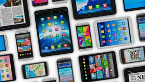 Mobile devices stock video