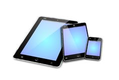 MOBILE DEVICES empty screens Royalty Free Stock Photography