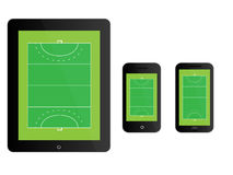 Mobile Devices Hockey Field Black Stock Images