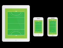 Mobile Devices Hockey Field White Stock Photography