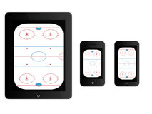 Mobile Devices Hockey Rink Black Royalty Free Stock Photo