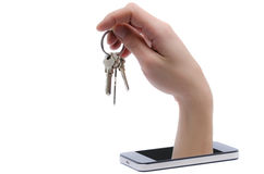 Mobile devices are a new threat in data security Royalty Free Stock Image