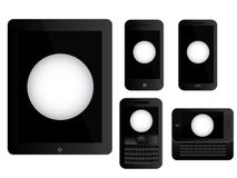 Mobile Devices Ping Pong Ball Black Royalty Free Stock Image