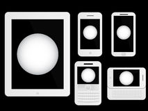 Mobile Devices Ping Pong Ball White Stock Photos