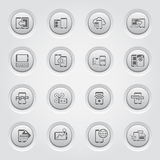 Mobile Devices and Services Icons Set Royalty Free Stock Images